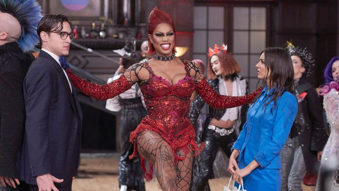 Welcome to the castle: Ryan McCartan, Laverne Cox and Victoria Justice.