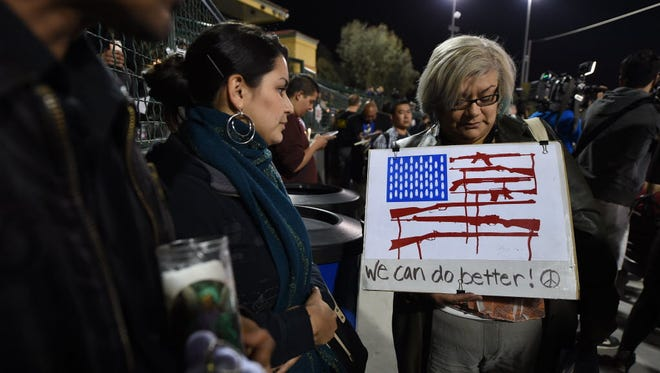 Candlelight vigil in San Bernardino, Calif., on Dec. 3, 2015.