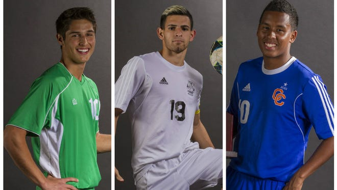 Player of the Year finalists from left to right: Adam Everett, Erick Rivera, and Camilo Avendano.