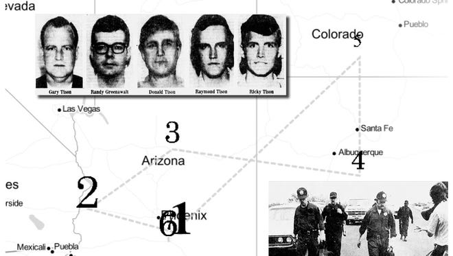 The so-called Tison Gang pulled off a daring and seemingly easy escape that led authorities on a 13-day manhunt across the state of Arizona that stretched across Arizona and into New Mexico and Colorado.
