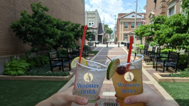 If Wooster establishes a Designated Outdoor Refreshment Area downtown, residents and visitors would be able to walk the area with an alcoholic beverage from a local participating restaurant.
