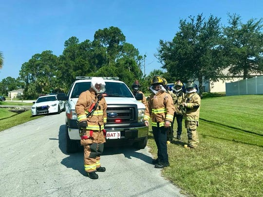 "St. Lucie County firefighters responded to a report of ""very aggressive"" bees about 4 p.m. July 13, 2018."