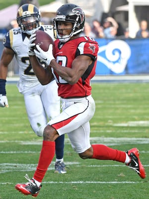 Falcons WR Taylor Gabriel had six TD catches in the regular season, tying for the team lead.
