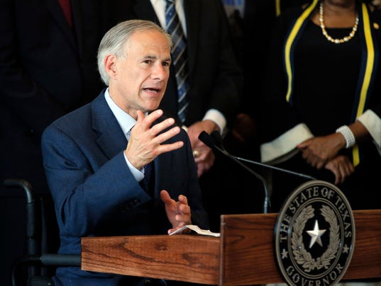 AP TEXAS GOVERNER SANCTUARY CITIES A FILE USA TX