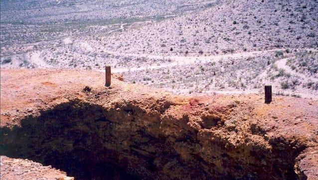 Garnett mine shaft opening