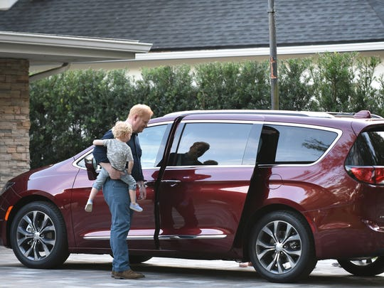 "The Chrysler brand officially debuts its new ""Dad Brand"" advertising campaign for the 2017 Chrysler Pacifica April 8, 2016 featuring actor/comedian/writer/producer Jim Gaffigan."