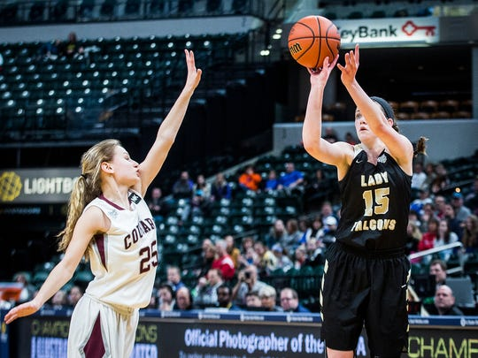 Winchester's Shelby Miller shoots past Central Noble's