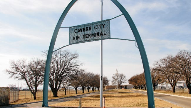 The Cavern City Air Terminal is shown here in an undated photo.