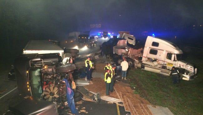 Wreck on I-10