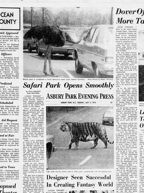 1974: The July 2, 1974 edition of the Asbury Park Press had coverage from opening day at the park.