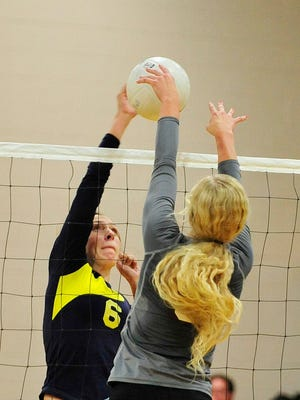 Stayton's Courtney Cowan (6) has signed a letter of intent to play volleyball at Clackamas Community College.
