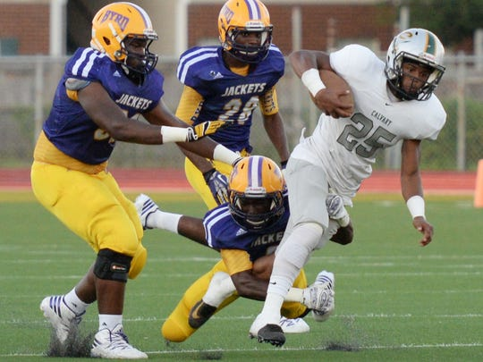 Calvary vs. Byrd Thursday evening at Lee Hedges Stadium.