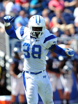 MTSU linebacker TT Barber is the top returning tackler in Conference USA with 119 takedowns last season.