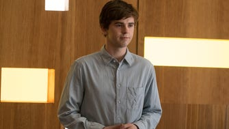 Dr. Shaun Murphy (Freddie Highmore) on ABC's 'The Good Doctor,' one of fall's early hits.
