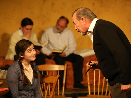 Maria Cardillo and Christopher M. Woerner in Chapel Street Players' 'The Diary of Anne Frank.'