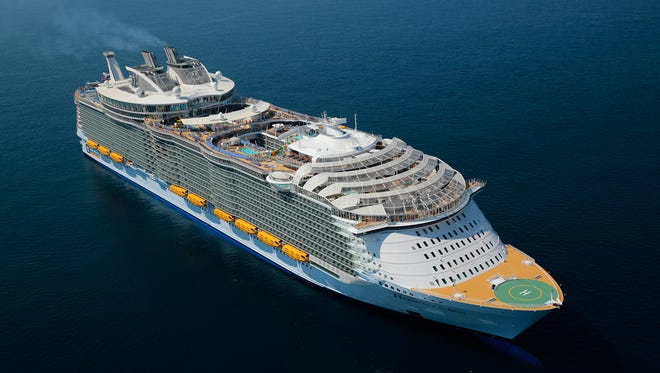 At 226,963 tons, Royal Caribbean's new Harmony of the Seas is the largest cruise ship ever built.