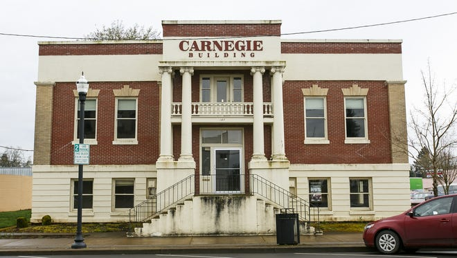The Carnegie Building in Dallas, Ore., on Tuesday, March 21, 2017. Built in 1911, the city library was operated here in 1990.