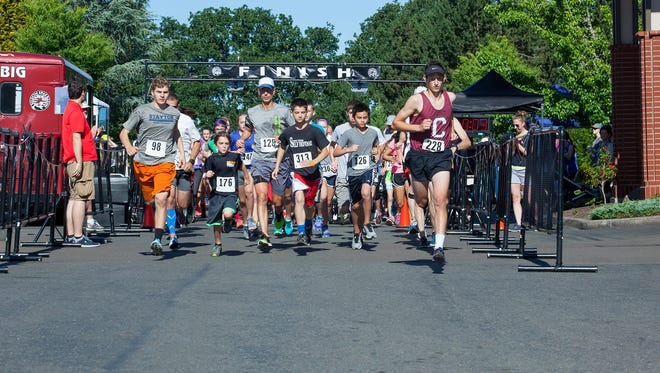 Start of the 2016 Santiam Hospital Fun Run & Health Walk. This year's event is at 9 a.m. Saturday, June 3, at Santiam Hospital, 1401 N. 10th Ave., Stayton.