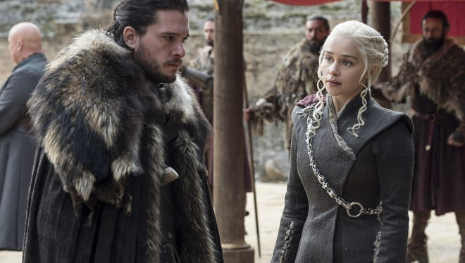 Is it weird that Jon and Dany, who are both related, are sneaking off into a bedroom alone? Yes.