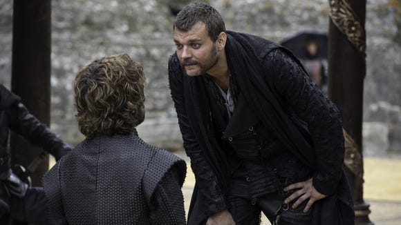 Euron Greyjoy, making a bad joke about dwarfs, before taking his fleet and leaving. (Episode 7)
