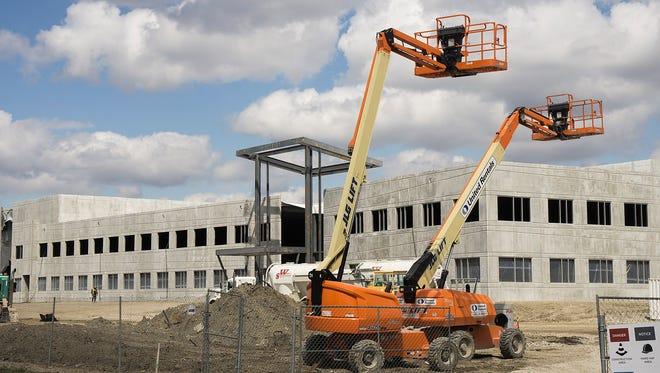 Republic National Distributing Co.'s building is going up on Eckles in Livonia, near the Amazon fulfillment center and on former General Motors property.