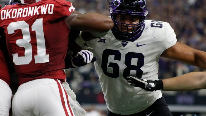 The Rams selected Texas Christian offensive tackle Joseph Noteboom in the third round of the 2018 NFL Draft on Friday.