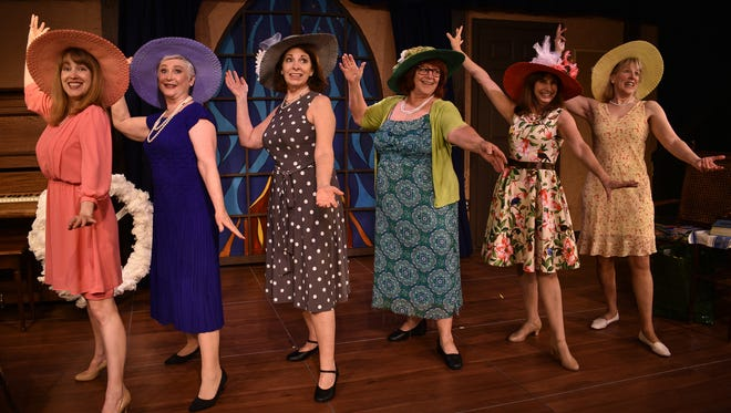 "The Jewel Box's ""Calendar Girls"" are played by (from left) Bronsyn Foster, Wendy Romero, Rilla Hughes, Alice Ingle, Janet Barton and Becky Eastgard."