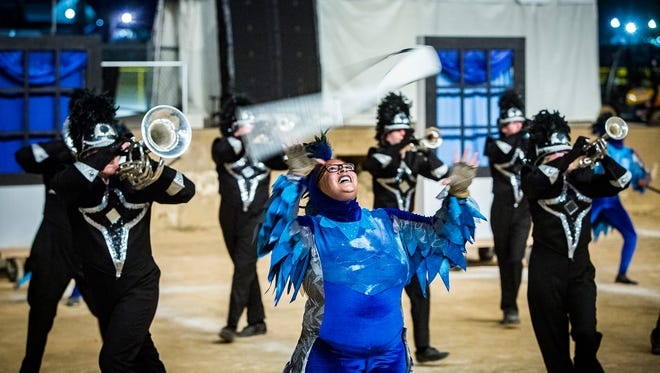 Central competes during Band Day at the Indiana State Fair Saturday evening.