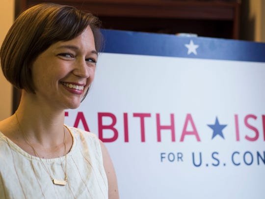 Tabitha Isner, a Democratic candidate for U.S. Representative District 2, is shown Wednesday, June 13, 2018, in Montgomery, Ala.