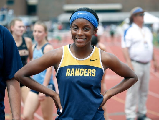 Vanessa Watson of Spencerport won the Girls 400 meter