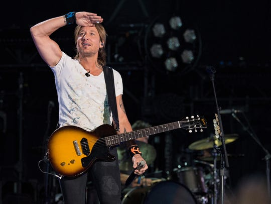 Keith Urban performs during the 2017 CMA Music Festival