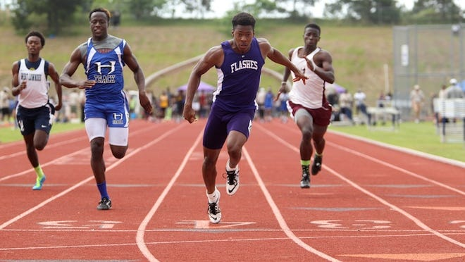 St. Aloysius' Demichael Harris clocked a time of 20.8 seconds in the 200 meters Saturday.