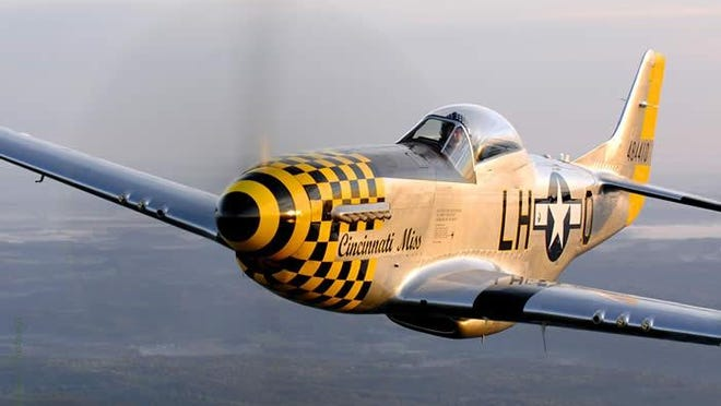 Cincinnati Miss, a P-51D Mustang, is one of the restored World War II planes at the Tri-State Wardbird Museum in Batavia Township.