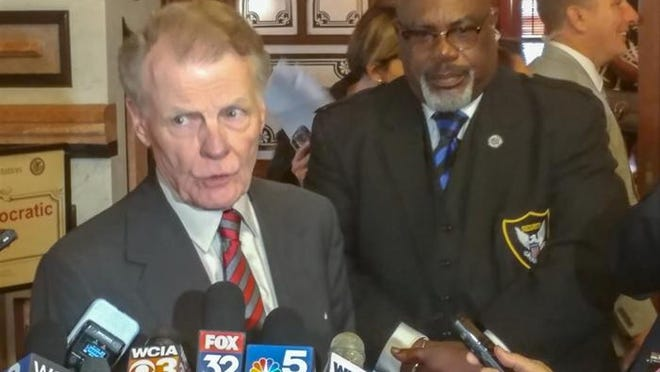 House Speaker Michael Madigan is pictured in a file photo at the Illinois State Capitol last year. He is now the subject of a Special Investigating Committee in the Illinois House due to his alleged ties to utility giant Commonwealth Edison.
