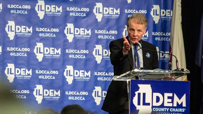 House Speaker Michael Madigan, who has held that position for all but two years since 1983, will have a challenger in January. He is pictured at a Democratic Party event in Springfield last year.