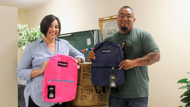 Pastor Anthony Torres and his wife Sasha are generously giving away 300 backpacks to students in need Saturday, Aug. 12, at Mountain View Assembly of God from 11 a.m. to 2 p.m.