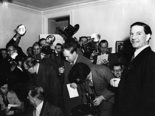 Kim Philby, right, was a British double agent who fooled