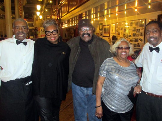 From left, Big Robert Stewart and his wife, Mary M. Stewart, Jack Dyson and Jeanetta and Percy Norris at the Rendezvous reception.