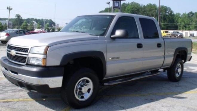 A truck similar to one that is suspected in a hit-and-run in Port Charlotte.