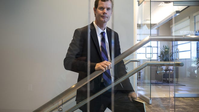 A portrait of Mike O'Donnell (President, City Wide of Phoenix) at Venue 8600, a building his company maintains. Venue 8600 is located at 8600 E. Anderson Drive, Scottsdale.
