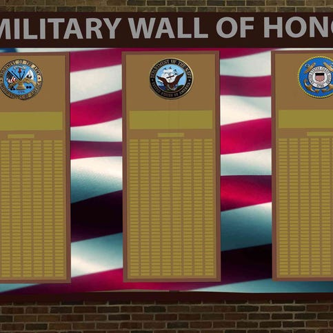 Menomonee Falls High School is building a wall to honor alumni who have served in the military