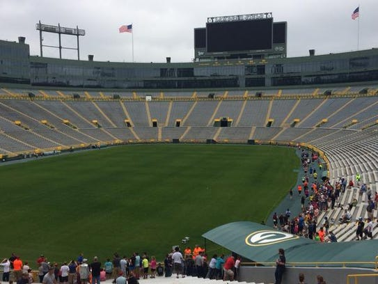 It wasn't game day at Lambeau Field on Sunday, but