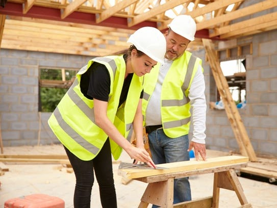 Many carpenters start out as apprentices for three
