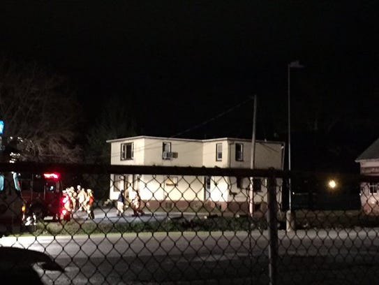 Scene of a fire in Manchester Township, which was quickly