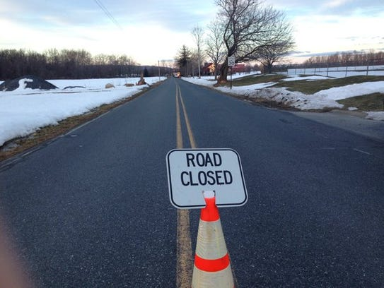 Eby Road in South Londonderry Township is closed while