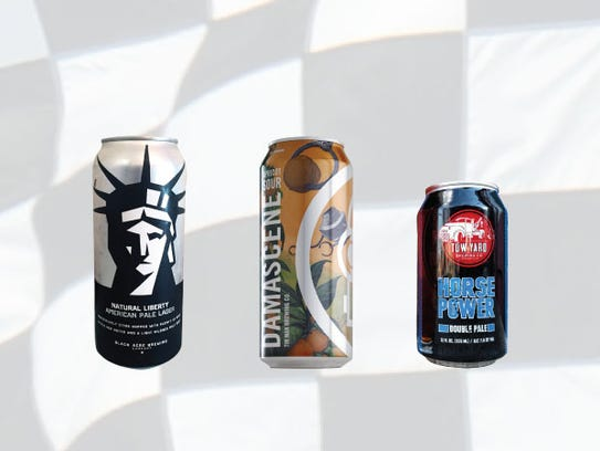 Row 4, from left, Natural Liberty American Pale Lager,