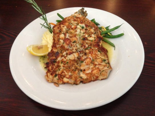 The Hunter's Grill's  trout almondine with lemon white