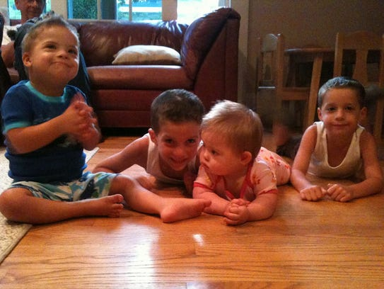 Sofia and her three older brothers, Joaquin, Mateo