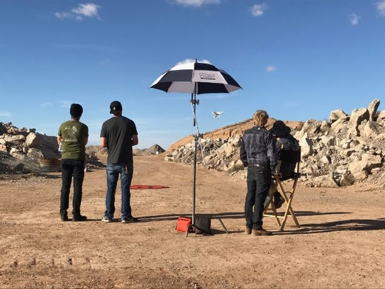 Participants in a filmmaking contest at Spaceport America