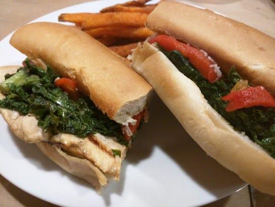 Cucina 37's Filagia hot sandwich had kale, roasted
